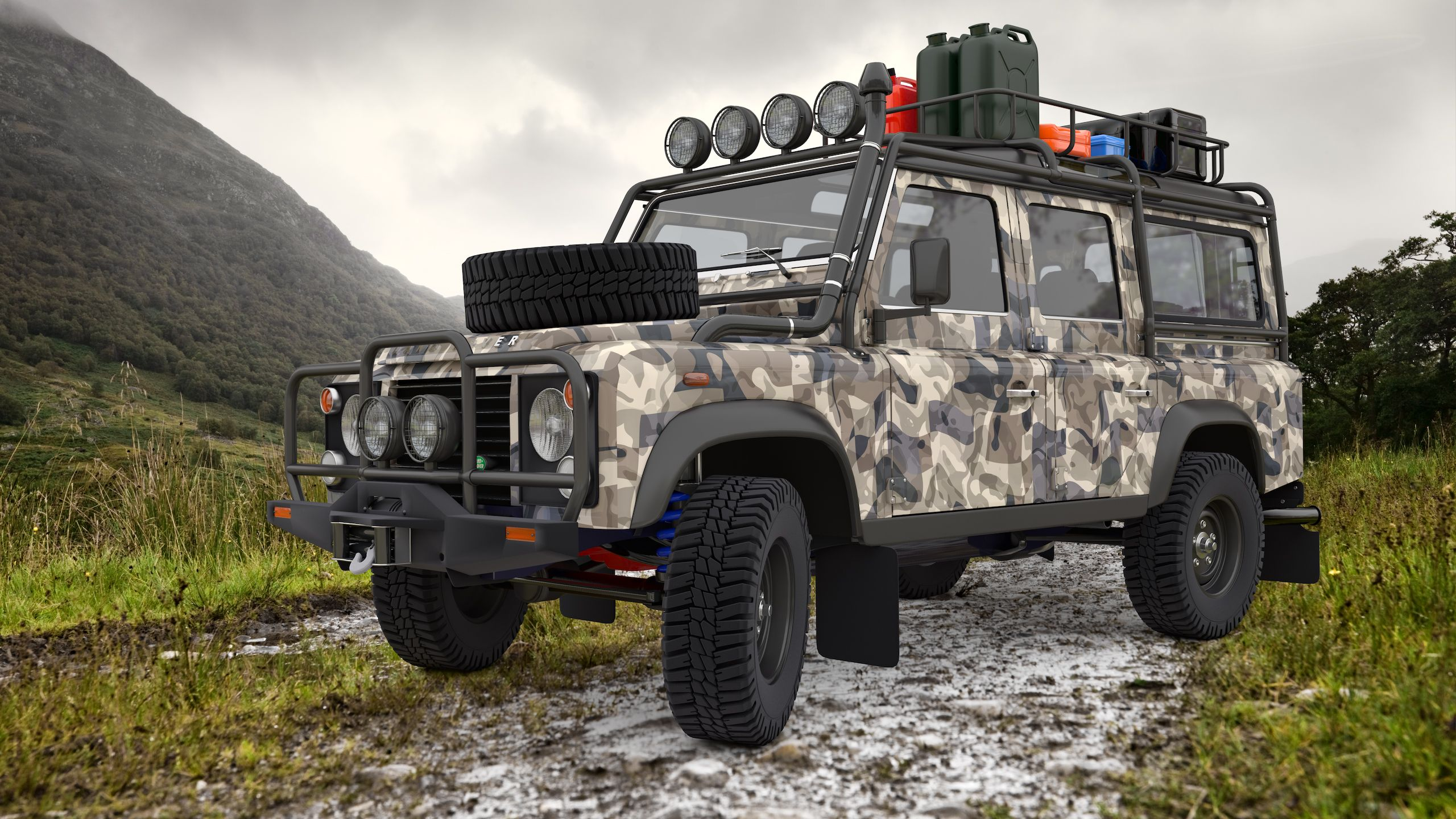 Land Rover Defender Expedition by SamCurryviantart on