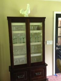 Refurbished gun cabinet into wine glass cabinet! $50 at a ...