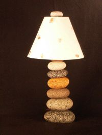 stacked river stone lamp by funky rock designs | DIY Arts ...