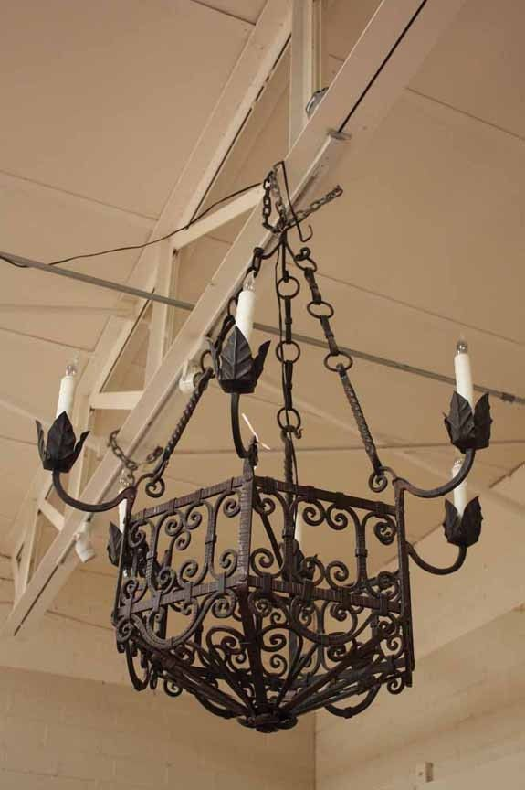Item L5 Spanish Iron Chandelier