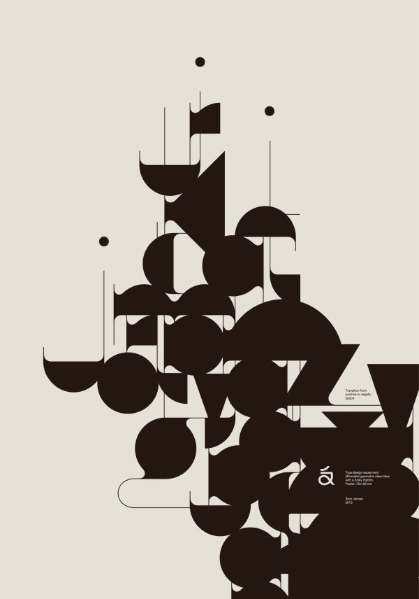 Negative Space Graphic Design Typography