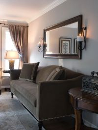 Traditional Chocolate Brown and Tan Living Room   Living ...
