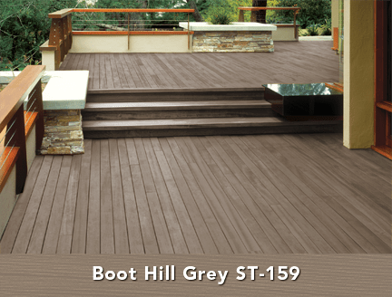 Behr Semi Transparent Wood Stain In Boot Hill Grey Deck
