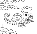 Widescreen coloring pages underwater animals of for kids laptop full hd pics the cartoon sea animals are so fun to