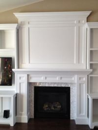 DIY built-in fireplace surround | TV over fireplace ...