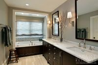 Contemporary Craftsman Style Custom Home  Master Bathroom ...