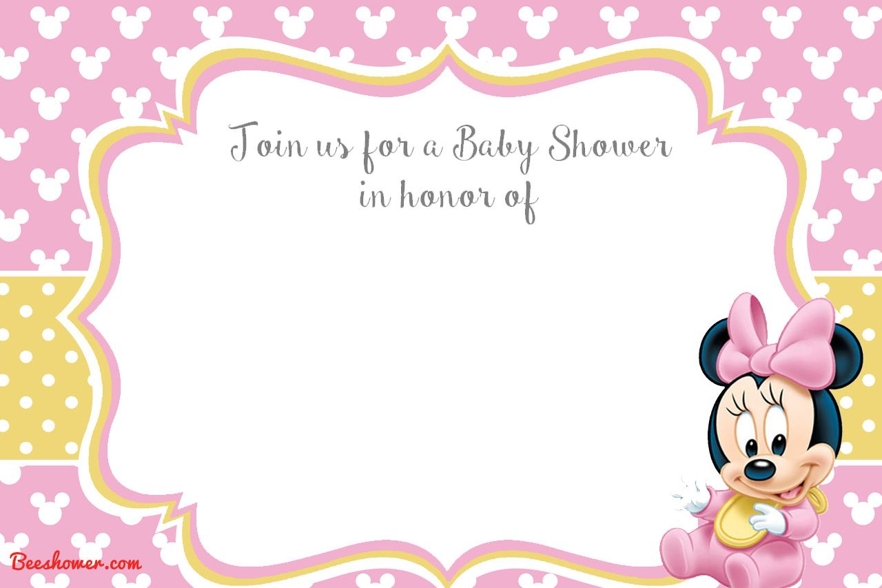 Get New Free Printable Mickey Mouse Baby Shower