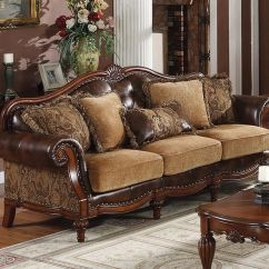 Leather And Chenille Sofa Bentley Klaussner Traditional Sofas Dreena Bonded