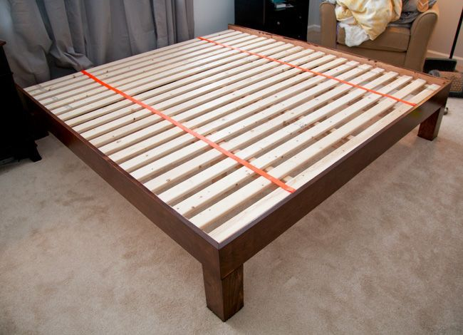 Diy Hand Built King Sized Wood Platform Bed See Post For Construction And