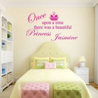 personalised 'princess' girl's wall sticker by wall decals ...