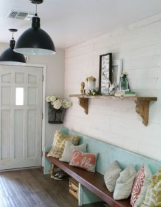 Best diy crafts ideas for your home loving this peel and stick reclaimed wood wall also rh in pinterest