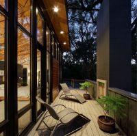 Mid Century Modern Beautiful Balcony With Grey Rattan ...