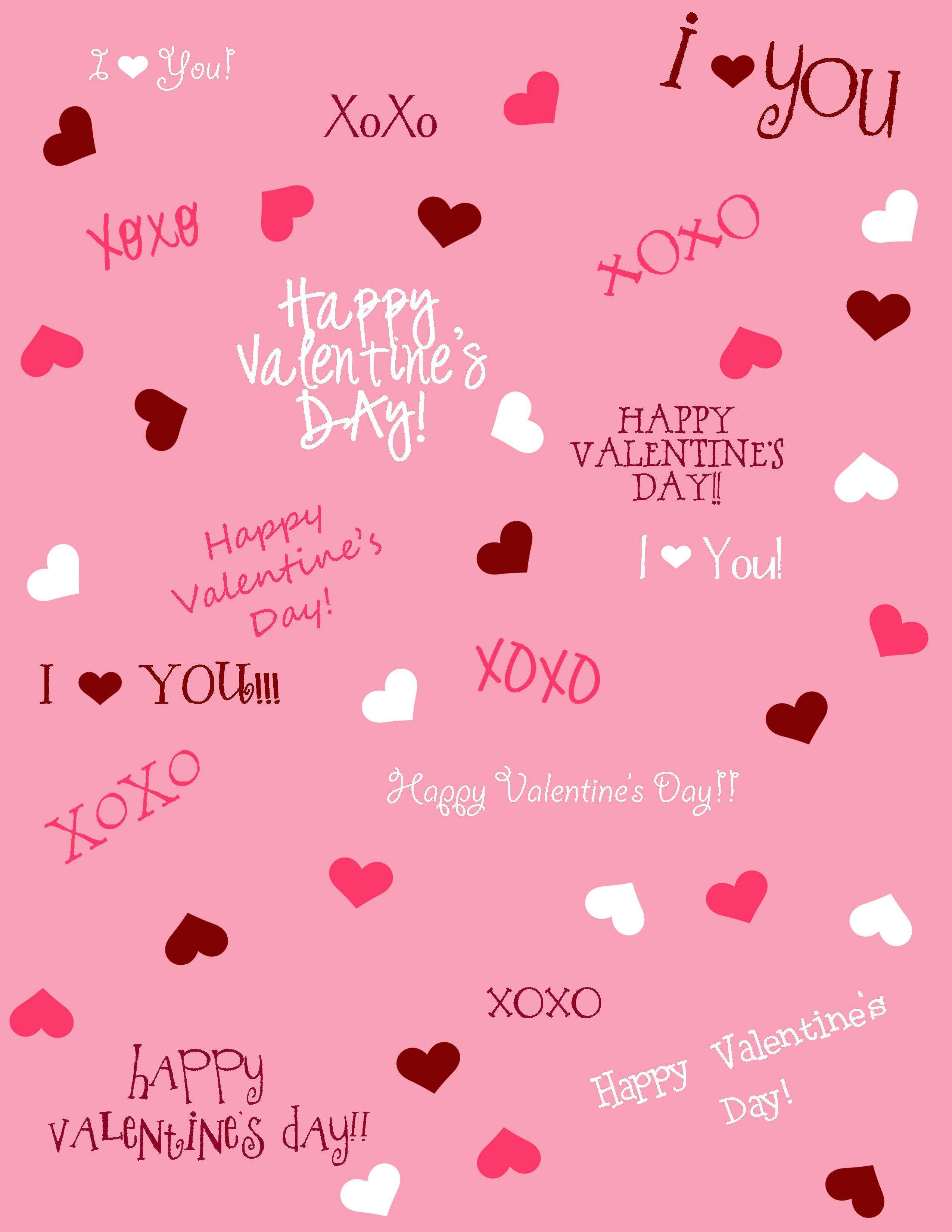 Free Valentine Scrapbook Paper