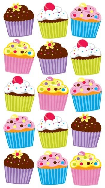 cupcakes collage sheets chocolate