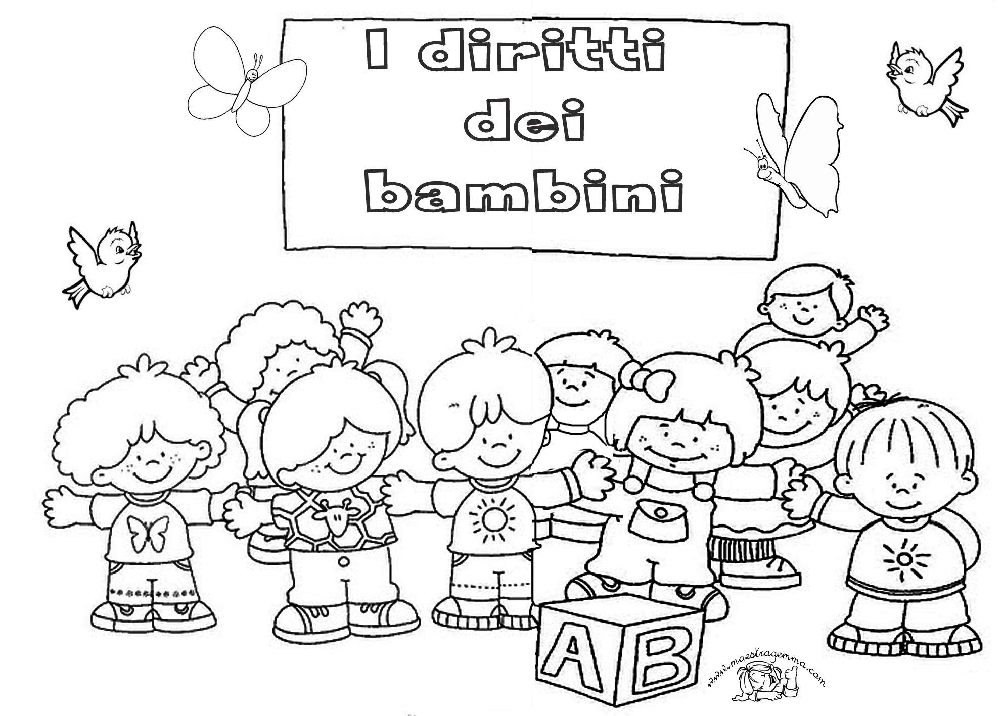 Disegni Sui Diritti Dei Bambini Da Colorare Ur52 Pineglen