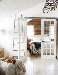 White farm house french doors leading to bedroom also pin by emma hill on home pinterest blanket bedrooms and future rh