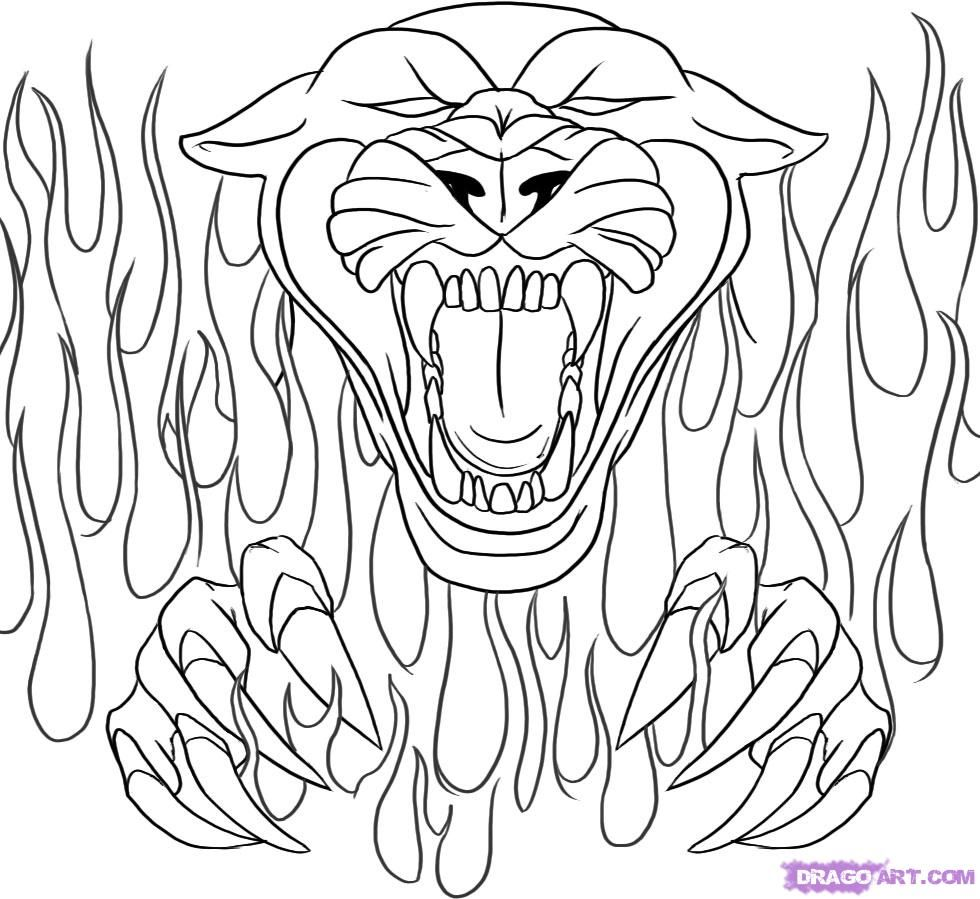Coloring Pages Of Cars With Flames Coloring Page