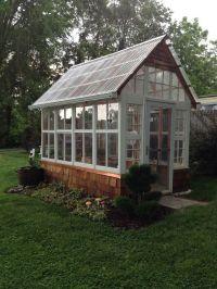old windows in backyard - Google Search | Greenhouses ...