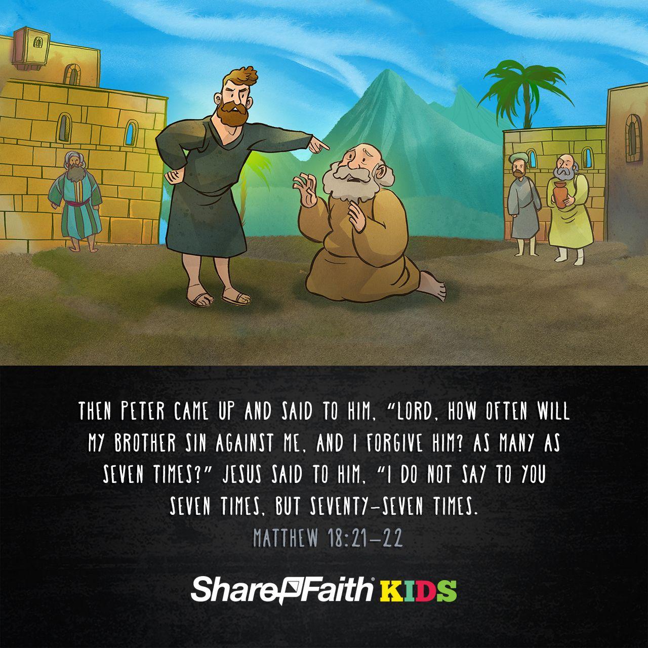 Matthew 18 The Parable Of The Unforgiving Servant Kids