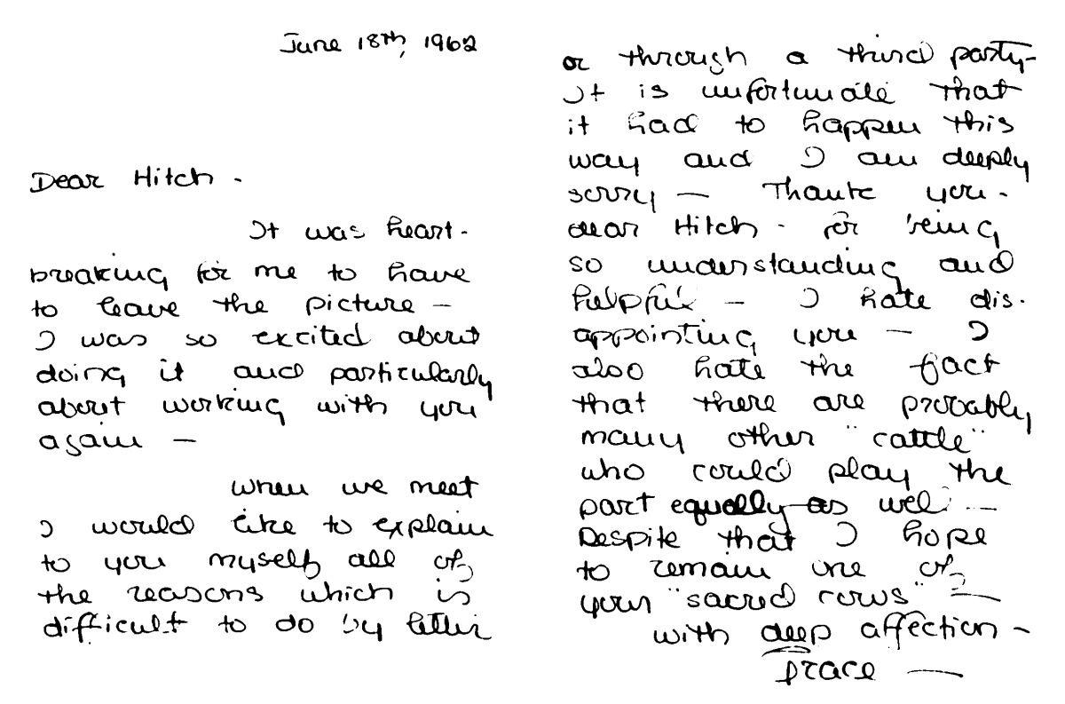 Waltdisneywithblood Handwritten Letter From Grace Kelly
