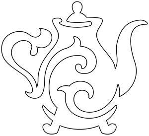 Quilting Teapot design (UTH6267) from UrbanThreads.com