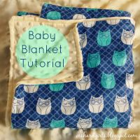 Super easy DIY Baby Blanket Tutorial (with minky and ...