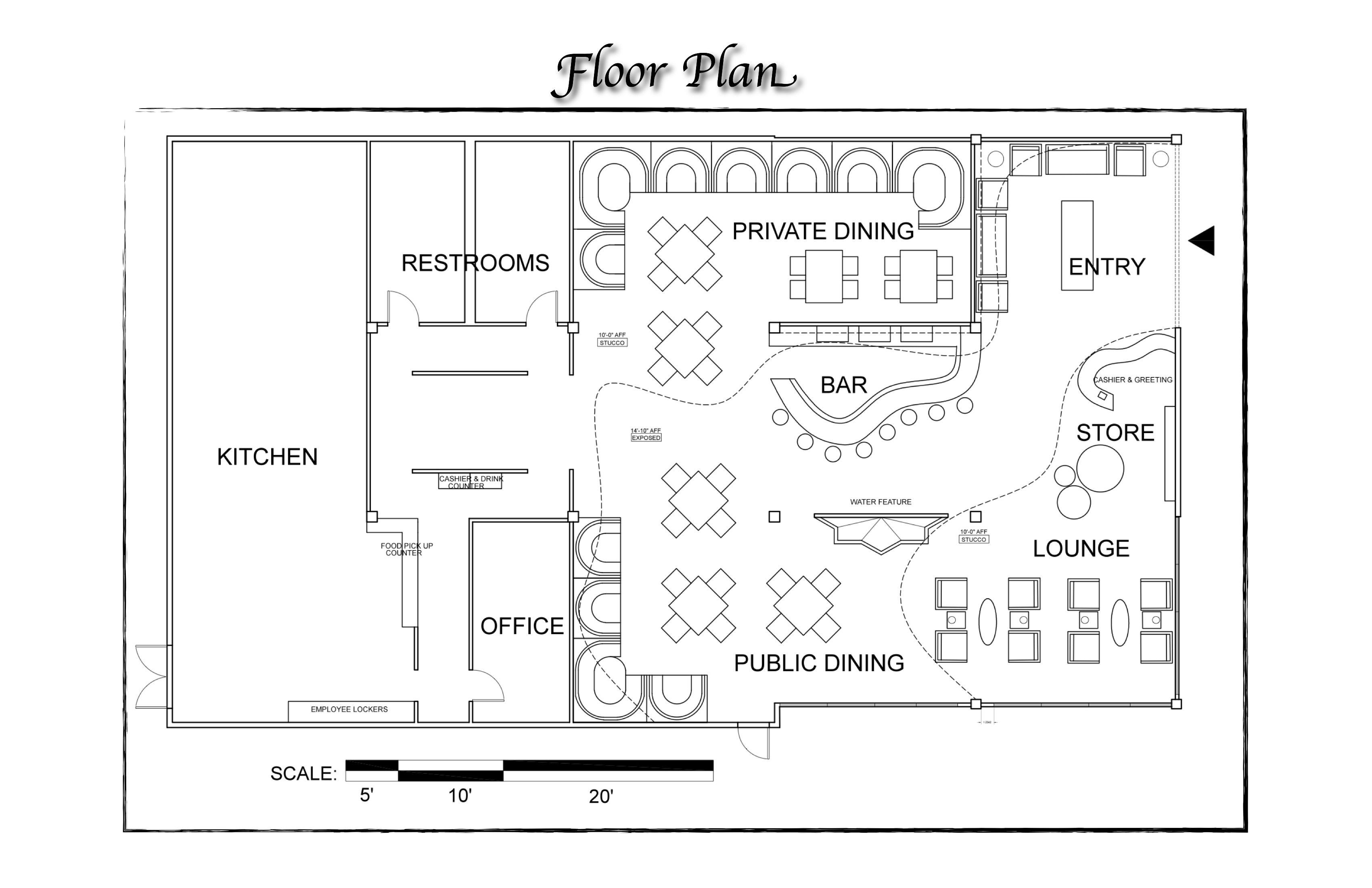 Floor Plans For Restaurants