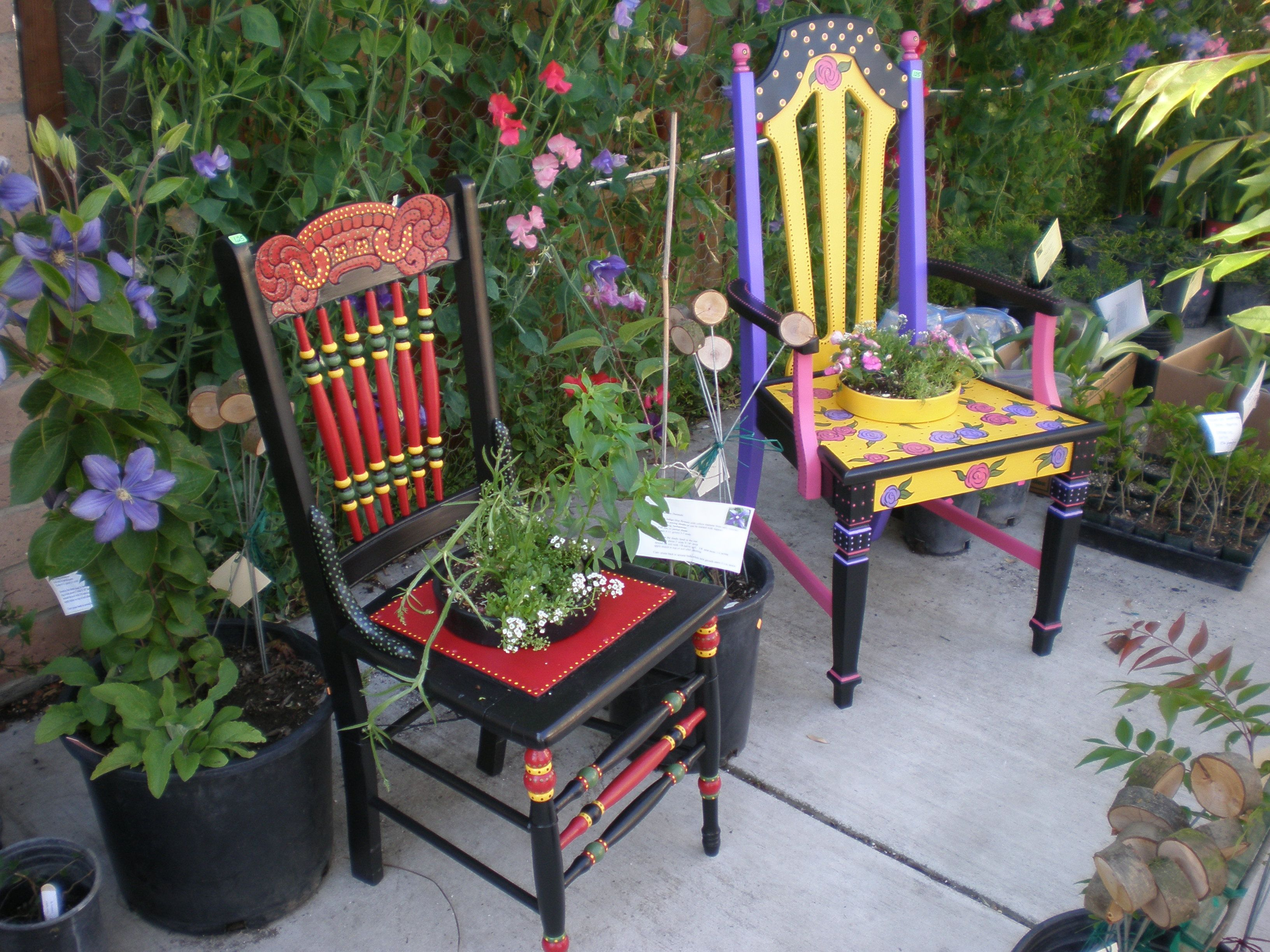 Colorful Wooden Chairs Unique Painted Chairs For Your Garden Outdoor Wooden