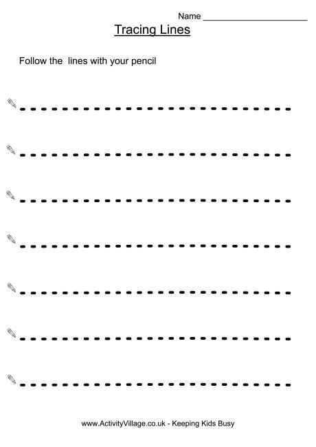 trace lines preschool
