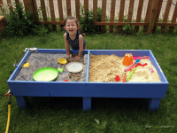 Sand and Water Tables Kids LOVE | Backyard play spaces ...
