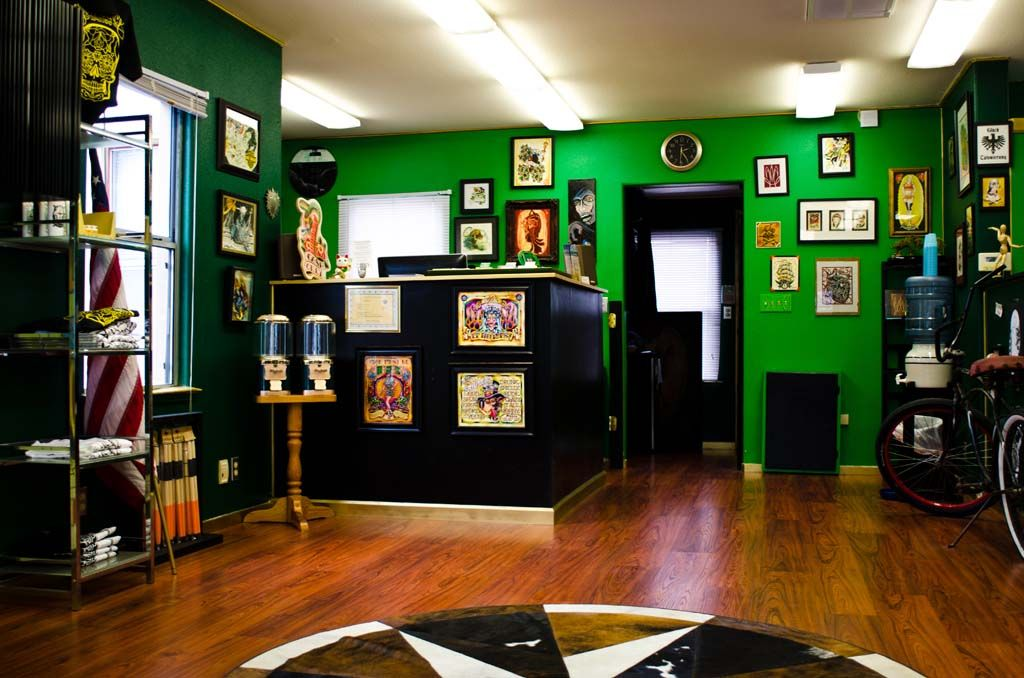 Good Luck Tattoo Shop  Studio Ideas Furnishings