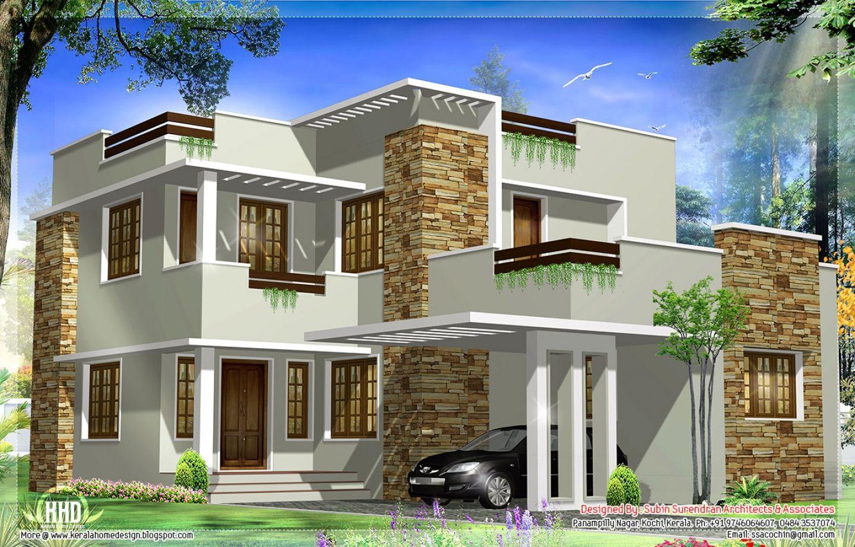 General Square Feet Modern House Elevation Kerala Home Design