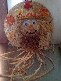 Scarecrow straw hat wreath | Straw Hat Crafts | Pinterest ...
