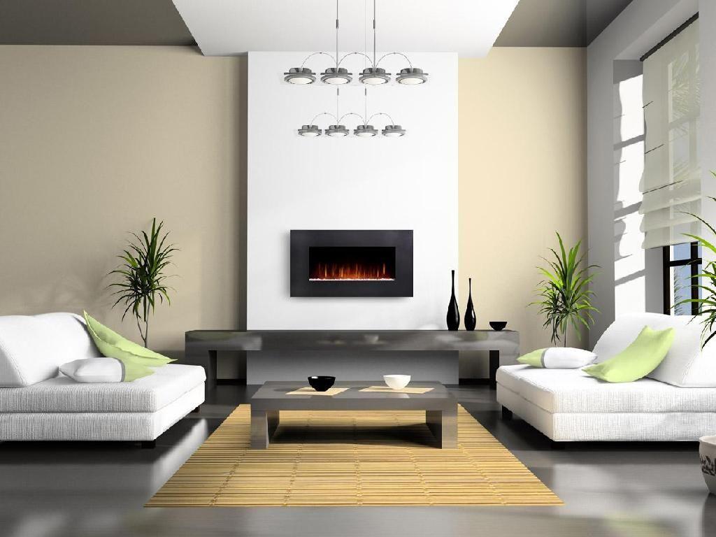 Contemporary Fireplace Wall Contemporary Living Room Design