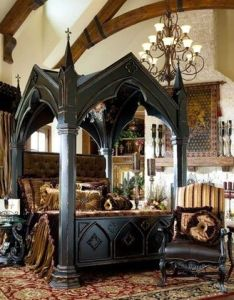 Canopy bed gothic medieval bedroom ideas home kings castle  am in love also scotland photo via lacie jason do you think rh pinterest