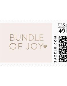 Bundle of joy postage stamp in blush baby ts child new born  idea diy cyo special unique design also shower ideas party rh pinterest