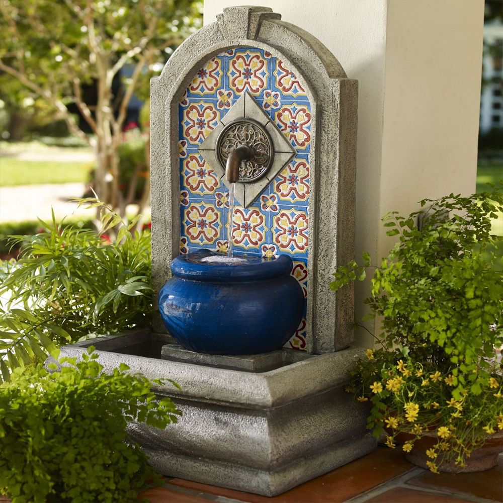 Outdoor and Patio: Modern Wall Fountains Design Ideas For