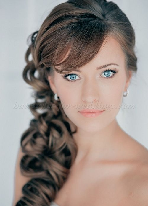 Ponytail Wedding Hairstyles Curly Side Ponytail Hairstyles For