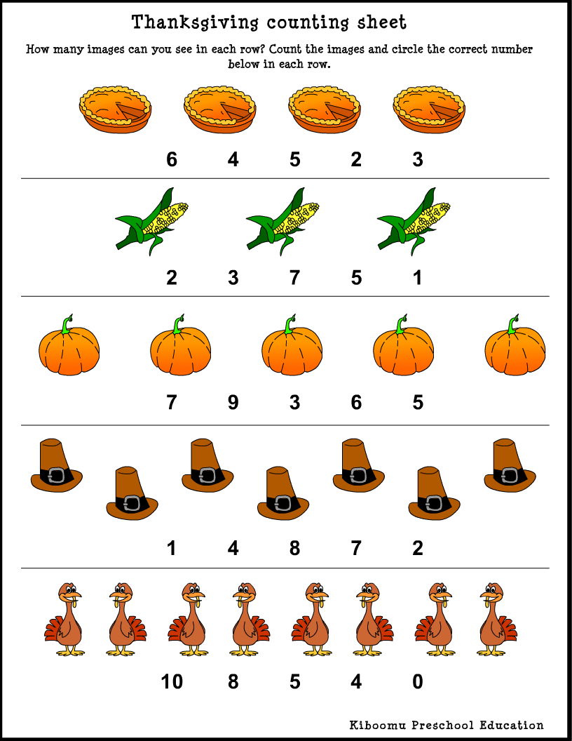 hight resolution of Thanksgiving Worksheets For Kindergarten - Kindergarten