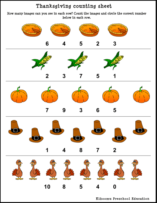 small resolution of Thanksgiving Worksheets For Kindergarten - Kindergarten