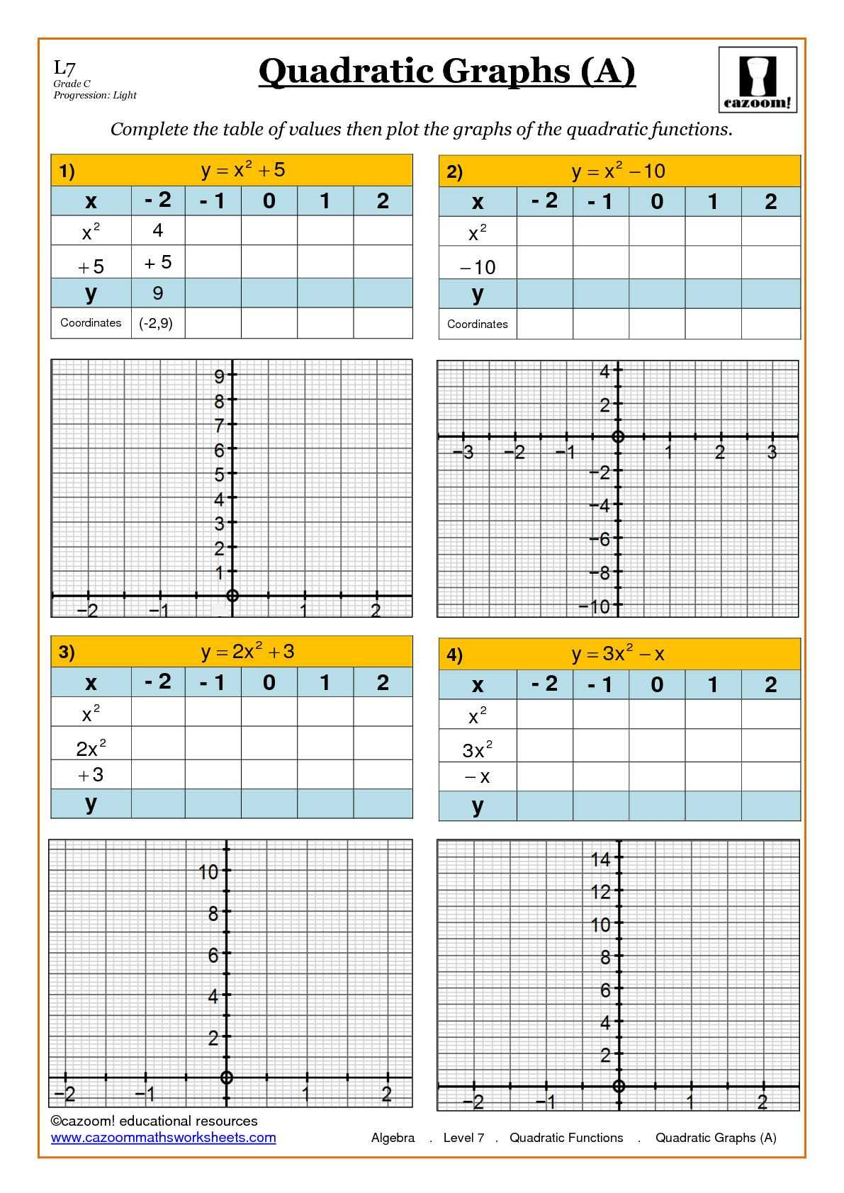 Algebra Maths Worksheet Ks3 And Ks4
