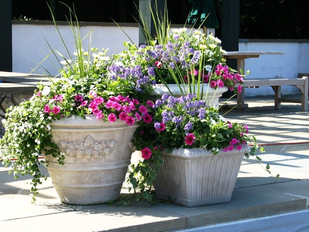 Outdoor Flower Pots Ideas 1034×776 Garden Pot Ideas