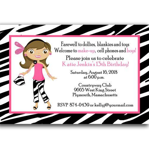 Happy 13th Birthday Invitations