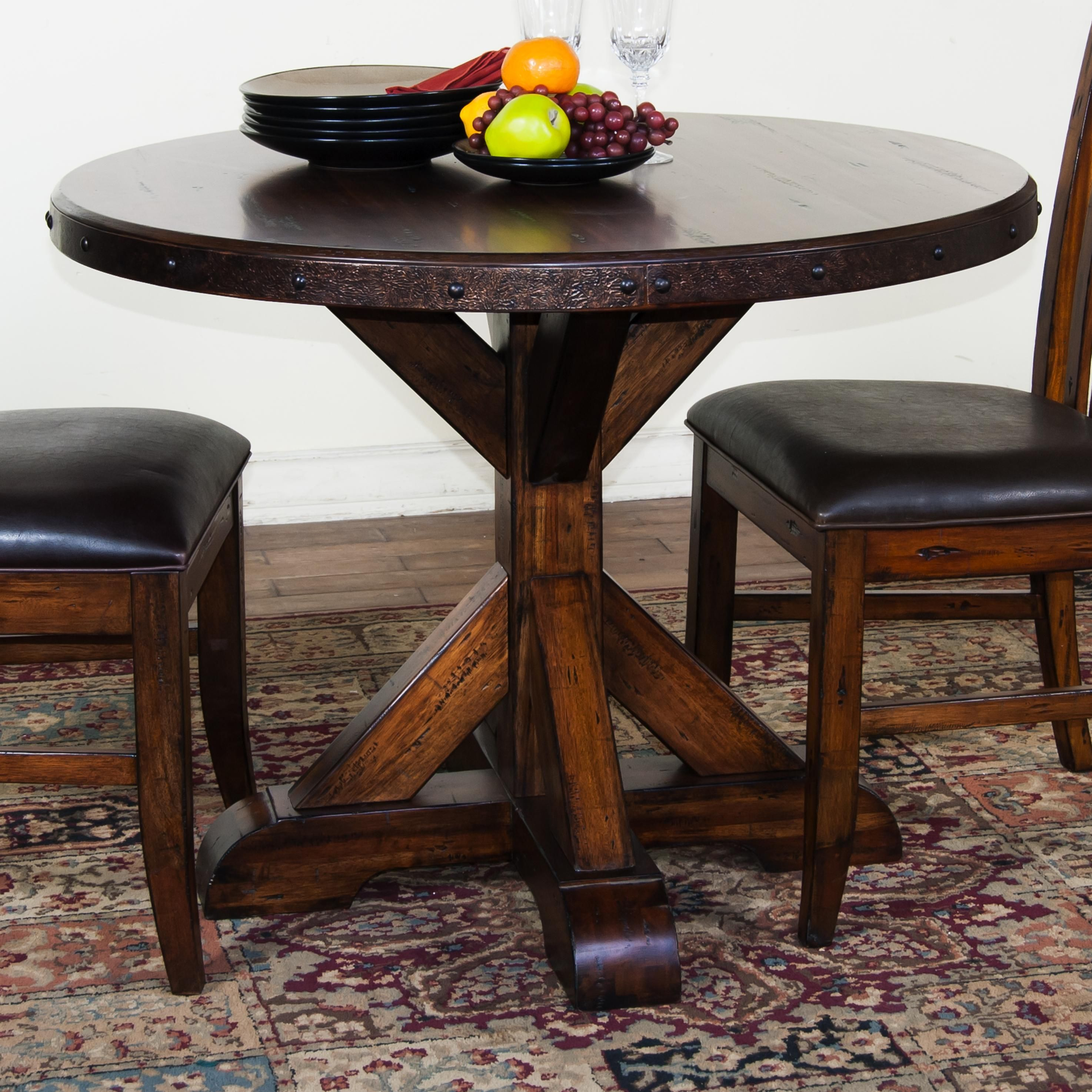 round wooden kitchen table lowes stoves exciting pedestal with armless chairs ideas
