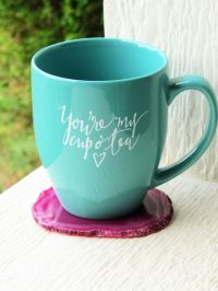 DANIE - IMPERFECT MUG: You're My Cup O' Tea Mug // Teal ...