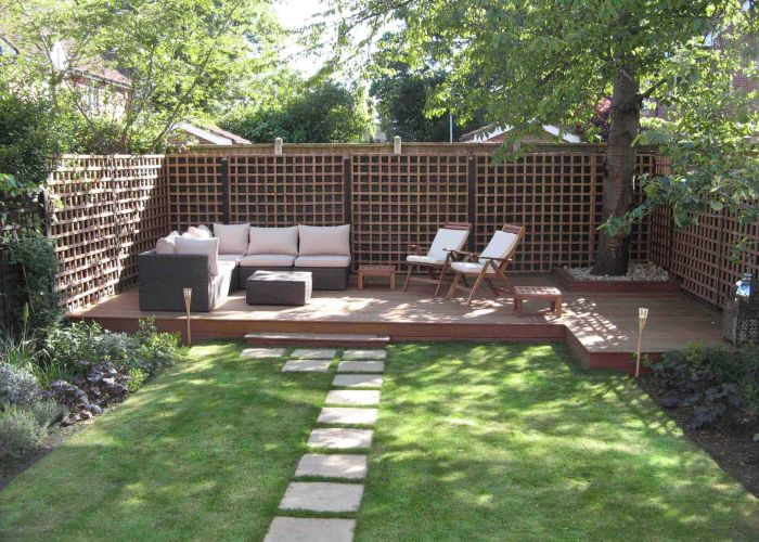 Small back garden landscape ideas post modern furniture intended for backyard designs regarding dream also attractive design with outdoor terrace and green