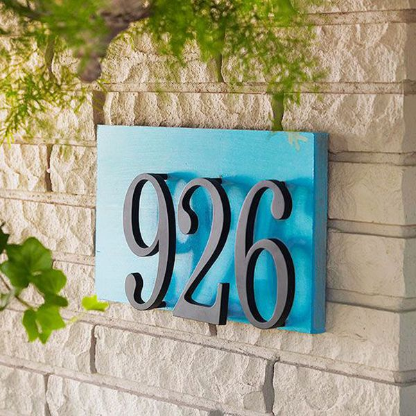 20 Modern And Creative DIY House Number Projects Decorating