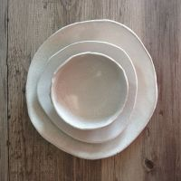 Ceramic Dinnerware Set, Handmade Ceramics, White