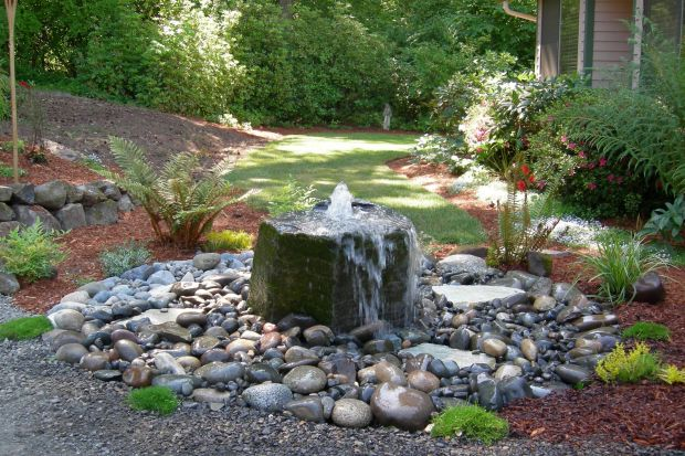 Ideas Unique Water Fountain Outdoor Fountains For Pond Waterfalls Large Water Designs Concrete ...