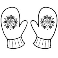 Cute Mitten Coloring Page | applique | Pinterest | Mittens ...
